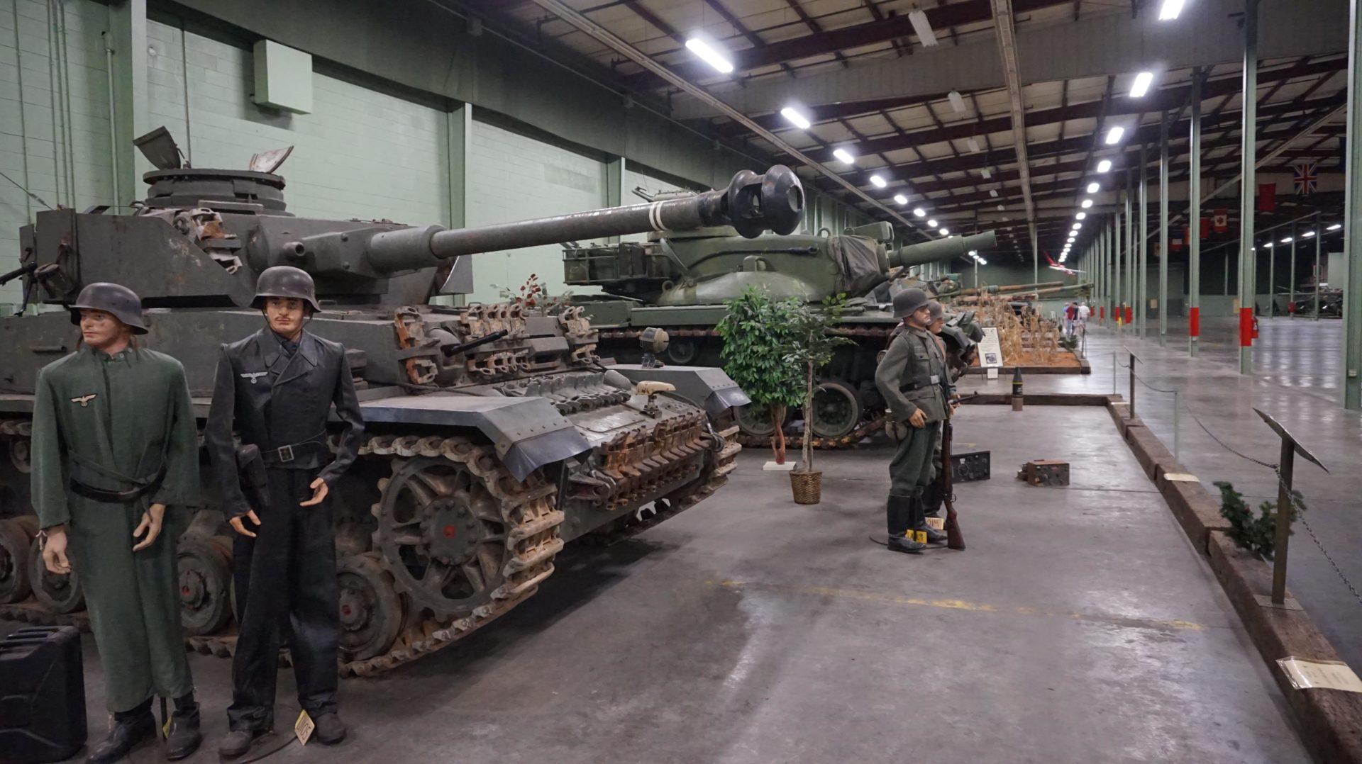 Tanks on display at the tank museum in Danville, Virginia