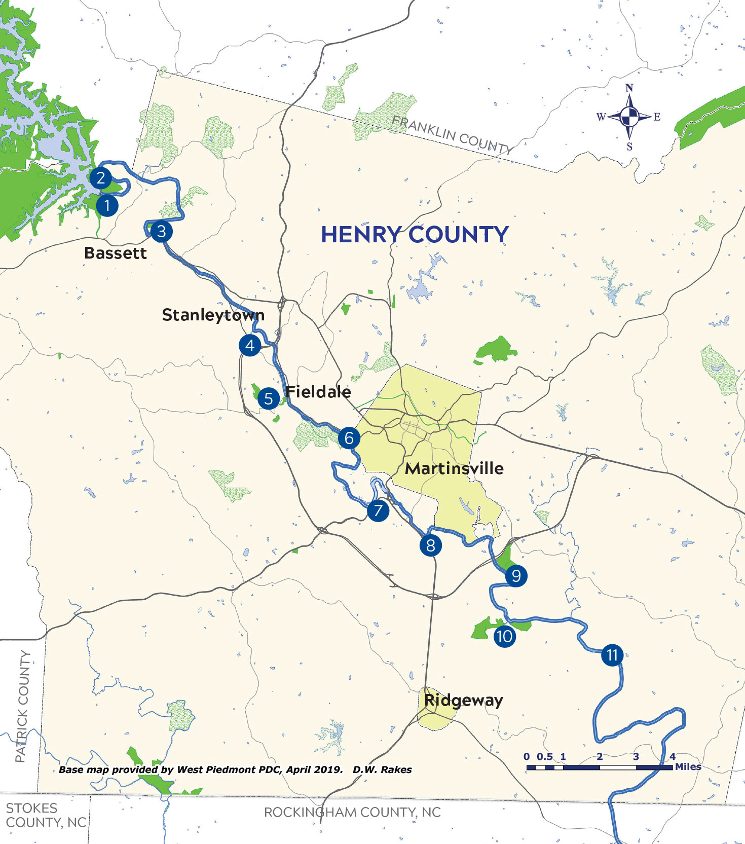 Smith River Blueway Trail Map